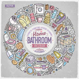 Vector set of Bathroom cartoon doodle objects Royalty Free Stock Photos