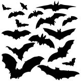 Vector Set of Bats Silhouettes Stock Photo