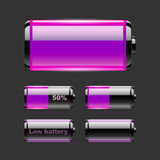 Vector set of battery charge. Stock Photo