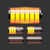 Vector set of battery charge Stock Image