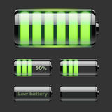 Vector set of battery charge Stock Photo