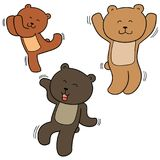Vector set of bear dancing stock illustration