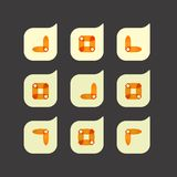 Vector set of beautiful abstract color icons Stock Images