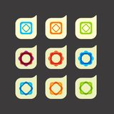 Vector set of beautiful abstract color icons Royalty Free Stock Images