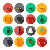 Vector set of beautiful accessories icons. Stock Photography