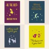 Vector set of beautiful cards templates. Stock Photo