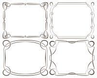 Vector set of beautiful framework Royalty Free Stock Photos