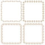 Vector set of beautiful square frames Stock Photos