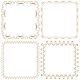 Vector set of beautiful square frames Royalty Free Stock Image