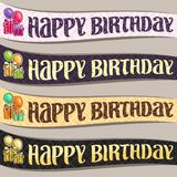 Vector set of Birthday ribbons Stock Image