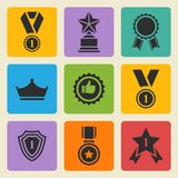 Vector set black awards Royalty Free Stock Image