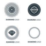 Vector set of black diamond design elements Stock Image