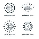 Vector set of black diamond design elements Royalty Free Stock Photography