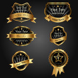 Vector set black gold Royalty Free Stock Images