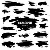 Vector set of black grunge spots Stock Photo