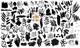 Vector Set of Black ink  stains Stock Image