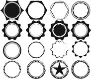 Vector Set of Black Retro Stamps and Badges. Labels. Vector illustration Stock Image
