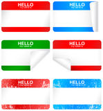 Vector set of blank adhesive name badges. Royalty Free Stock Photos
