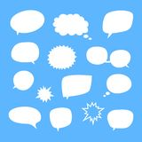 Vector set of blank empty white speech bubbles stock photo