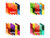 Vector set of blank geometric infographic web boxes. Created with triangles. Backgrounds for workflow layout, diagram, number options or web design Royalty Free Stock Image