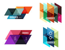 Vector set of blank geometric infographic web boxes Royalty Free Stock Image