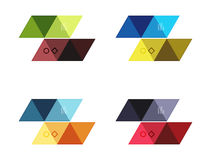 Vector set of blank geometric infographic web boxes Royalty Free Stock Photography