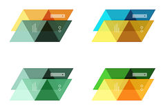Vector set of blank geometric infographic web boxes Stock Image