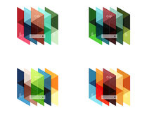 Vector set of blank geometric infographic web boxes Royalty Free Stock Photo