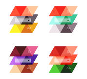 Vector set of blank geometric infographic web boxes Royalty Free Stock Photos