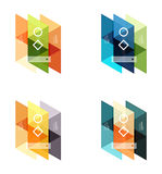 Vector set of blank geometric infographic web boxes Royalty Free Stock Images