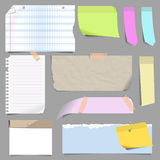 Vector set of blank note paper. Stock Photo
