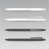Vector Set of Blank Pens.Template for advertising and corporate identity.Mock Up Template Ready For Your Design. Vector  I Royalty Free Stock Images