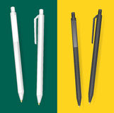 Vector Set of Blank Pens.Template for advertising and corporate identity.Mock Up Template Ready For Your Design. Vector Isolated I Royalty Free Stock Image