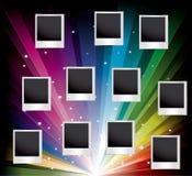 Vector set of blank printed photos Royalty Free Stock Photos