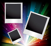 Vector set of blank printed photos Royalty Free Stock Image