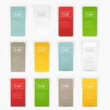 Vector Set of blank rectangle labels Royalty Free Stock Photos