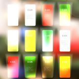 Vector Set of blank rectangle labels Stock Photos