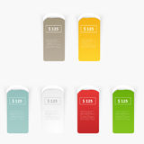 Vector Set of blank rectangle labels Stock Photo