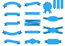 Vector set of blue ribbons Stock Image