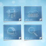Vector Set: Blueprint Icons Royalty Free Stock Images