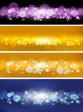 Vector set of blur- backgrounds Royalty Free Stock Images