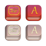 Vector set of book icons Stock Photo