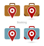 Vector set of booking icons Stock Photography