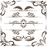 Vector set of bookplates and corners for design Stock Photo