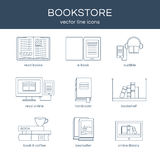 Vector set of books Royalty Free Stock Images