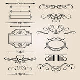 Vector Set Border Design Element Royalty Free Stock Images
