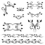 Vector set of borders, decorative elements. Stock Photography
