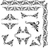 Vector set of borders, decorative elements. Royalty Free Stock Image