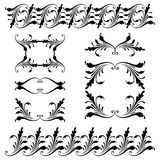 Vector set of borders, decorative elements. Vector set of borders, decorative elements for design, print, embroidery Stock Images