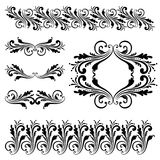 Vector set of borders, decorative elements. Royalty Free Stock Photos